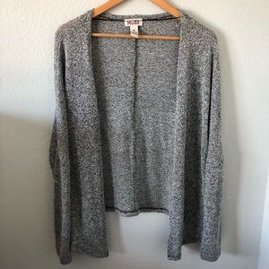 Mudd Overwized Gray Cardigan
